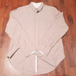 Rag & bone red long sleeve button up sz M